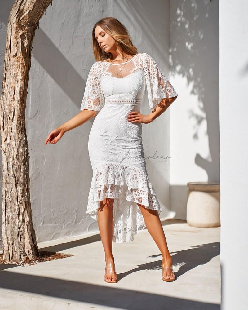 Reyna Dress - White