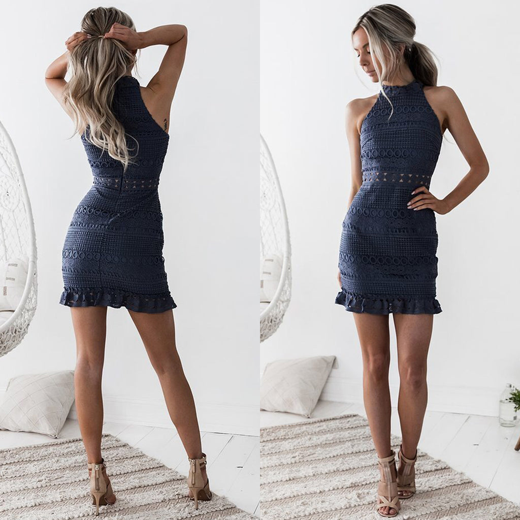 Rivers Dress - Steel Blue