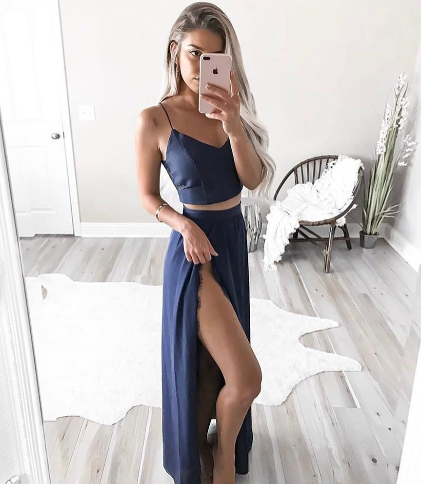 Ryan Two Piece Dress Set - Blue