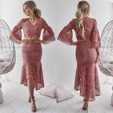 Pre-Order: Rylie Two Piece Dress Set - Mauve