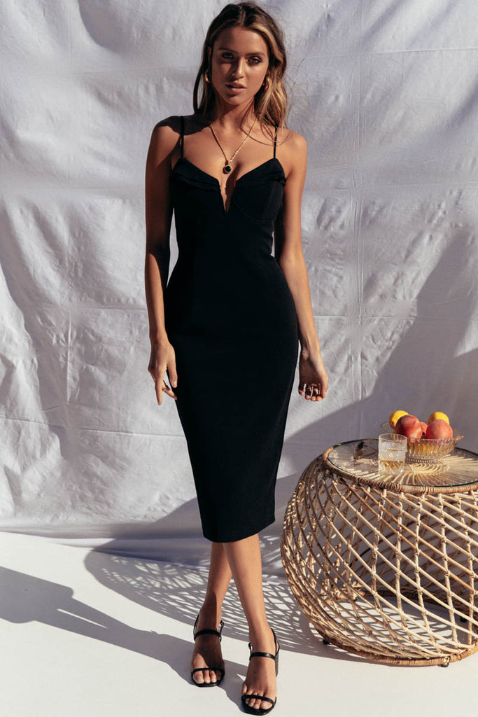 Cali Midi Dress - Black