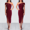 Secret Haven Multi Way Midi Dress - Maroon