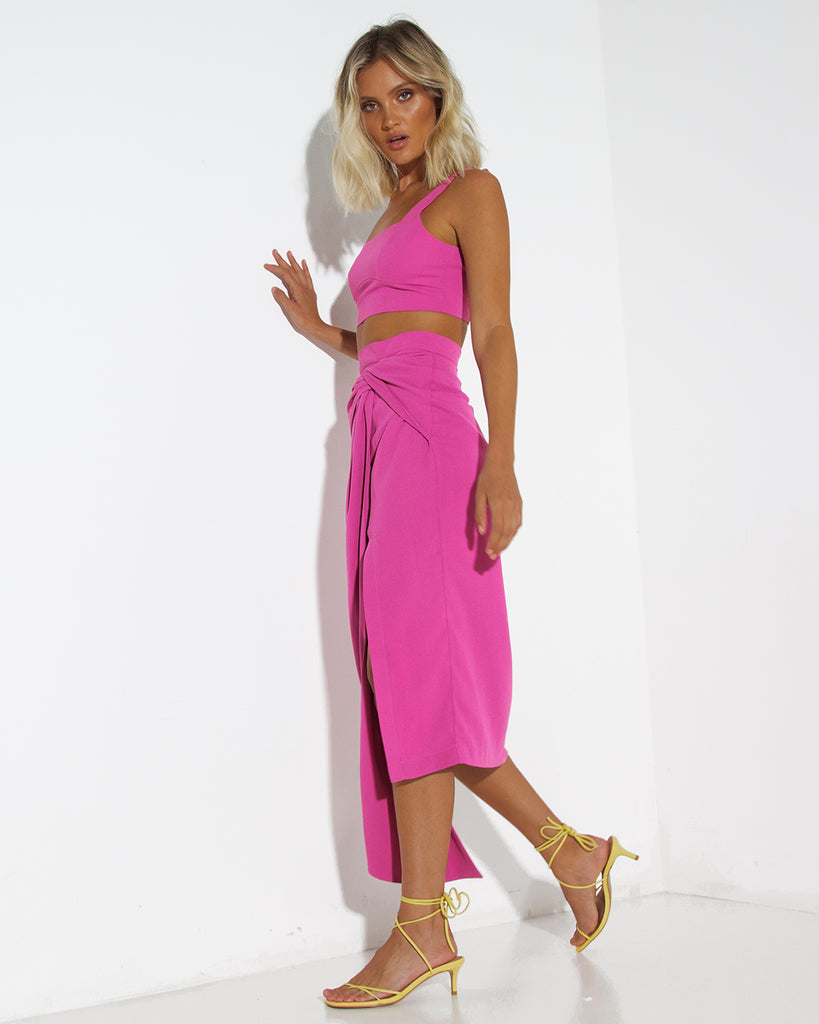 Neo Two Piece Dress Set - Magenta