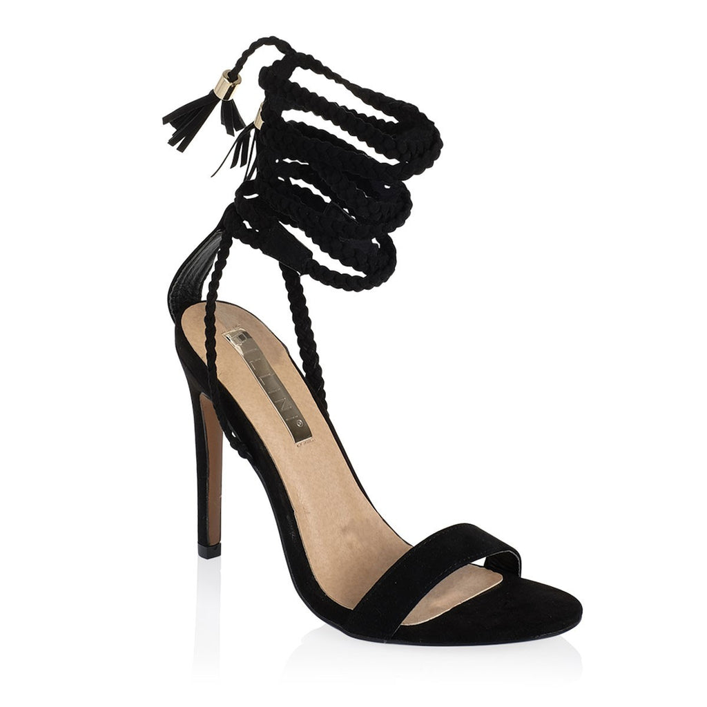 Sable Black Suede Heels by Billini