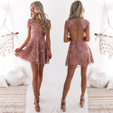 Saskia Embroidery Dress - Dusty Blush