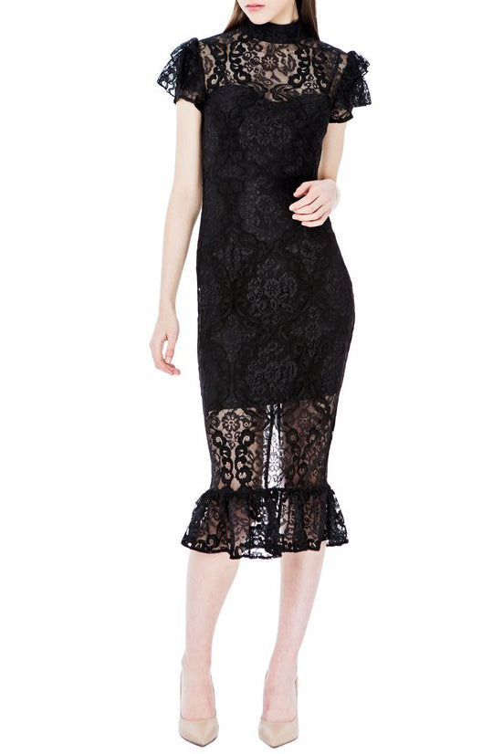 Selene Midi Dress - Black