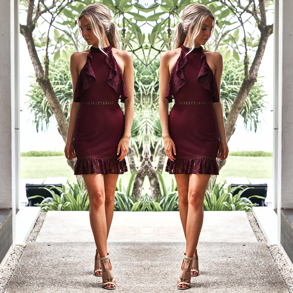 Shayne Dress - Burgundy