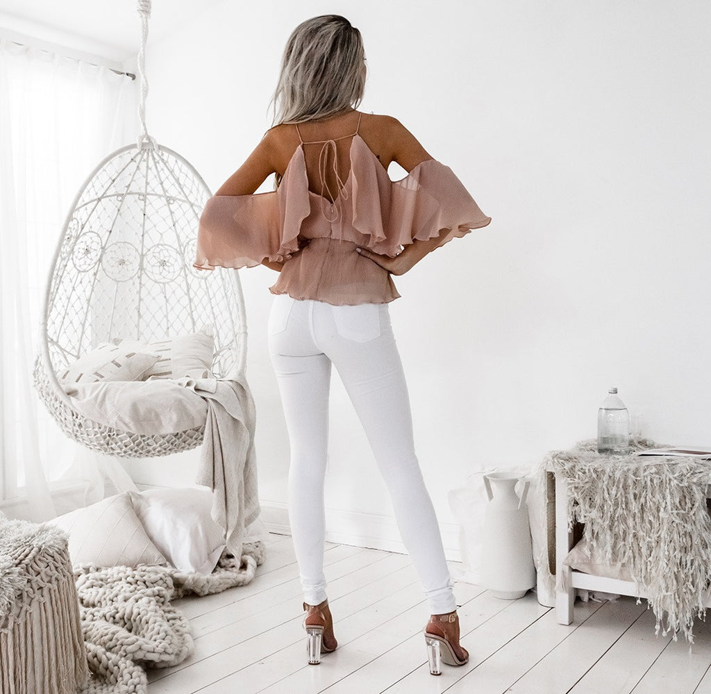 Pre-Order: Sicily Top - Dusty Peach