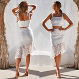 Skyler Two Piece Dress Set - White