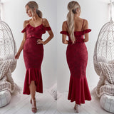 Tameka Dress - Maroon