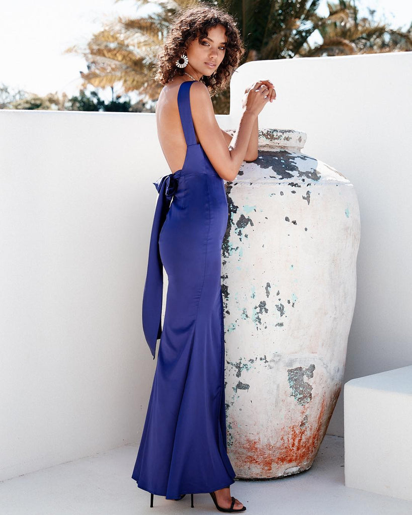 Thira Maxi Dress - Navy