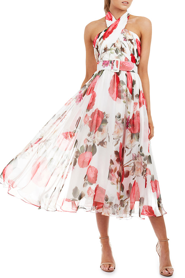 Victoria Dress by Georgy Collection - White Floral