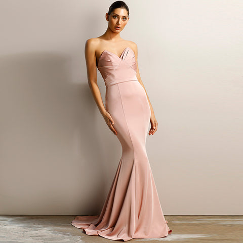 Francesca Lace Gown by Jadore - Latte