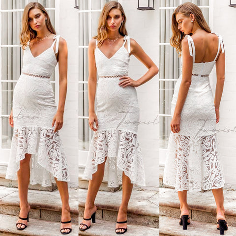 Petra Dress - White