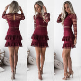 Victorian Dress - Maroon