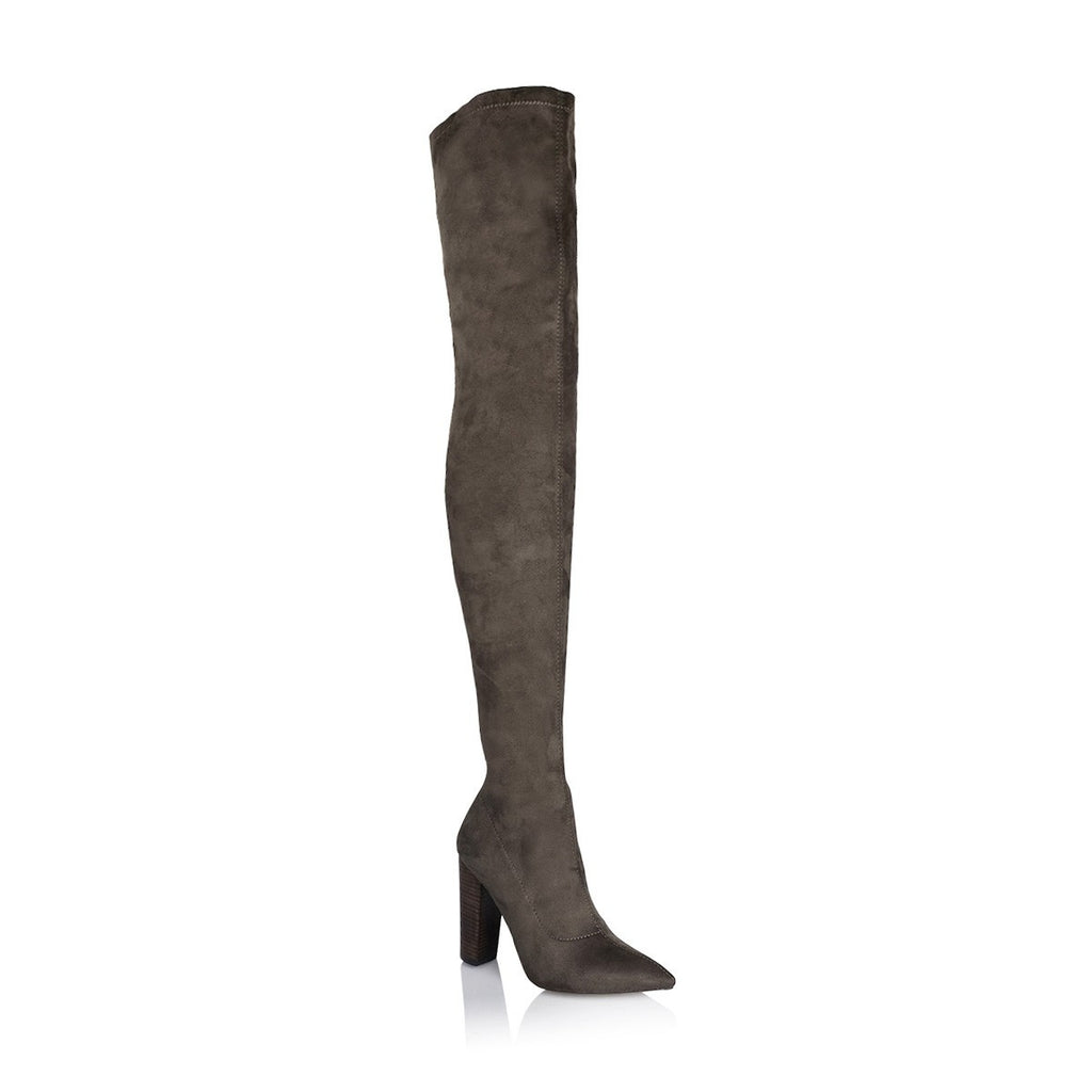 Odette Dark Khaki Suede Boot by Billini