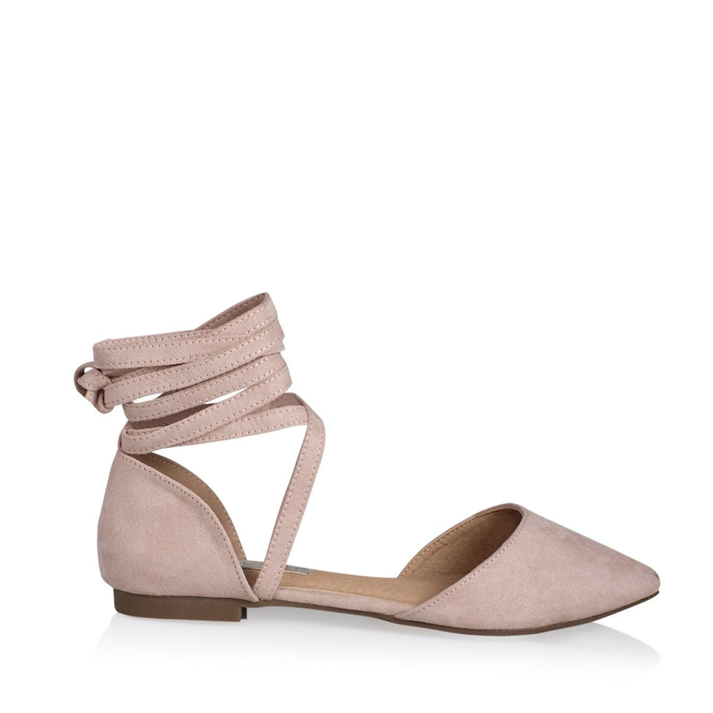 Zenya Blush Suede Flats by Billini
