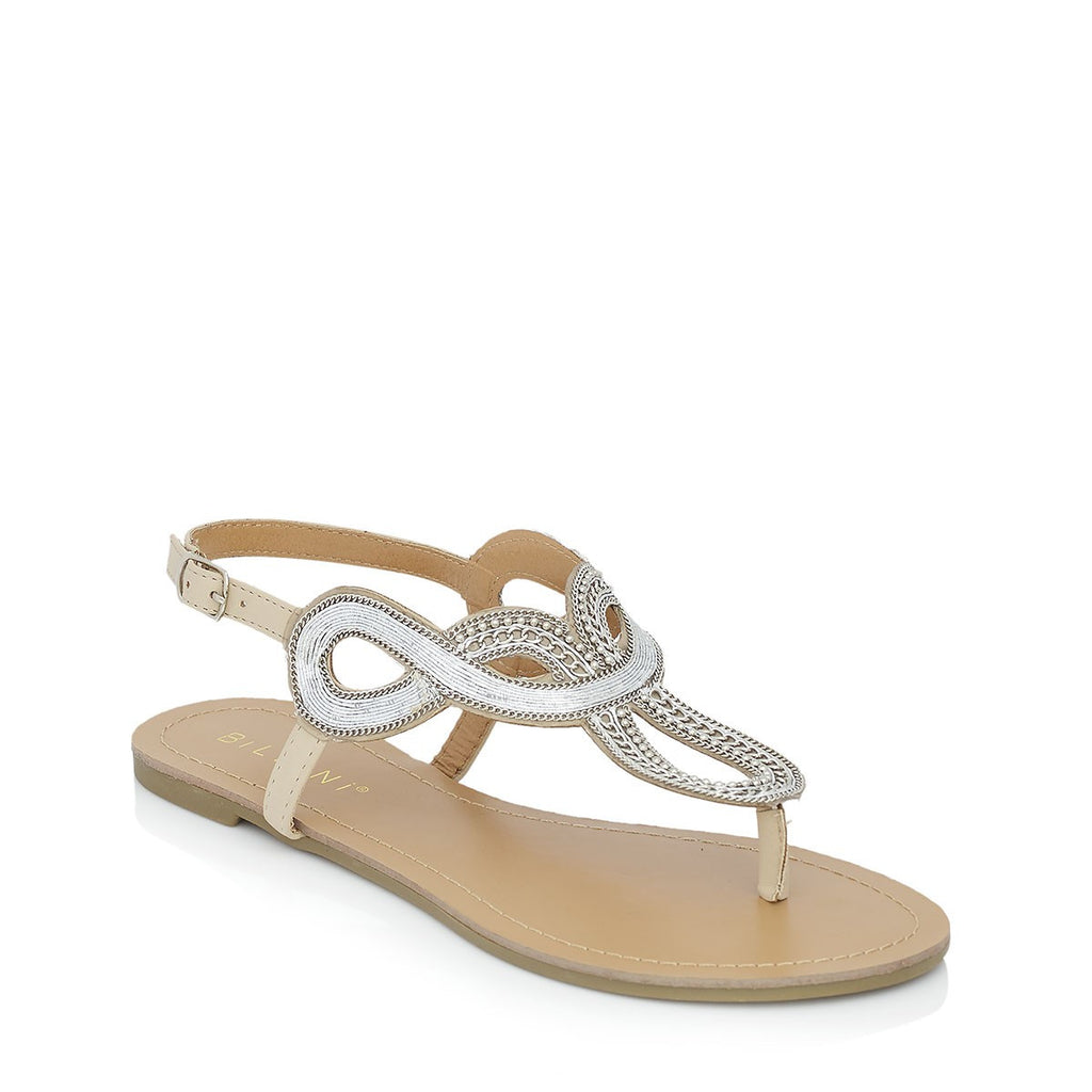 Chia Silver Sandals by Billini