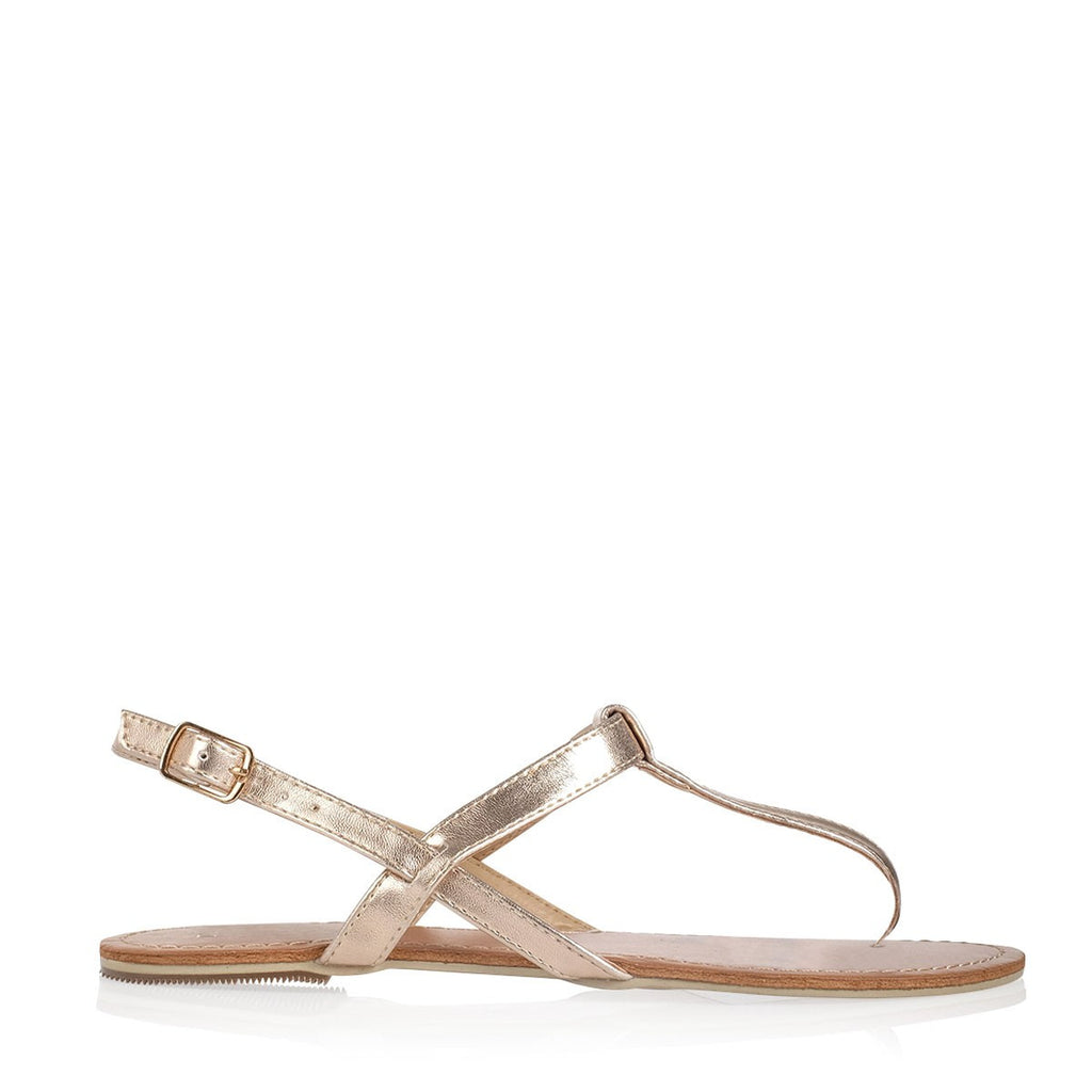 Harlow Rose Gold Sandals by Billini