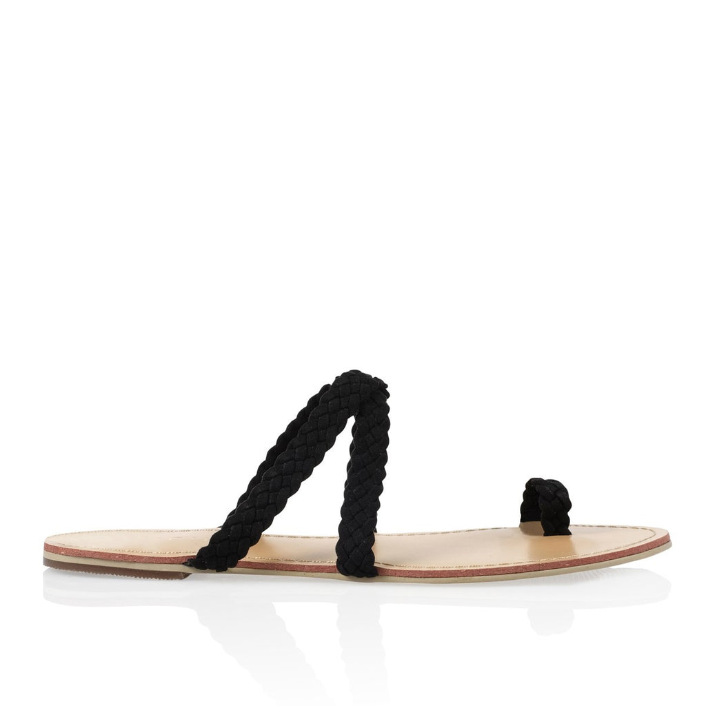 Macario Black Suede Sandals by Billini