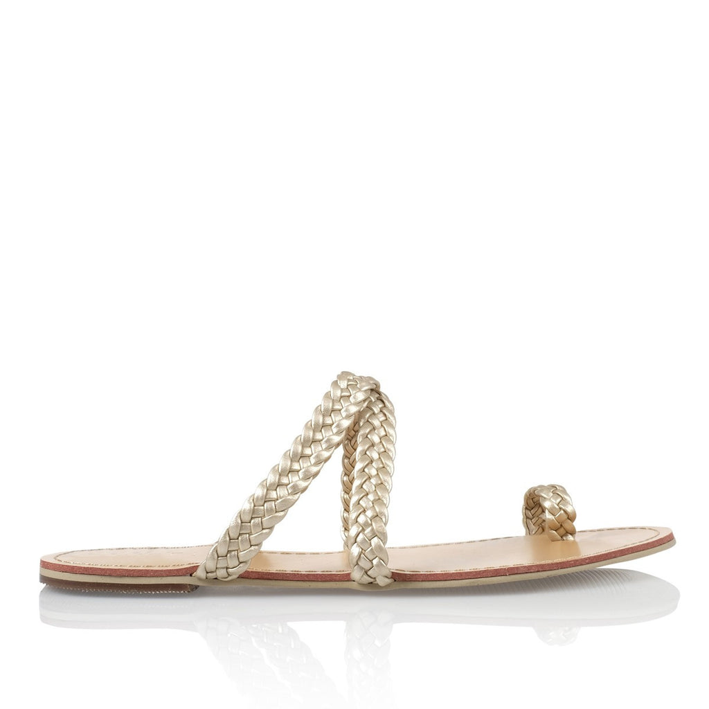 Macario Gold Sandals by Billini