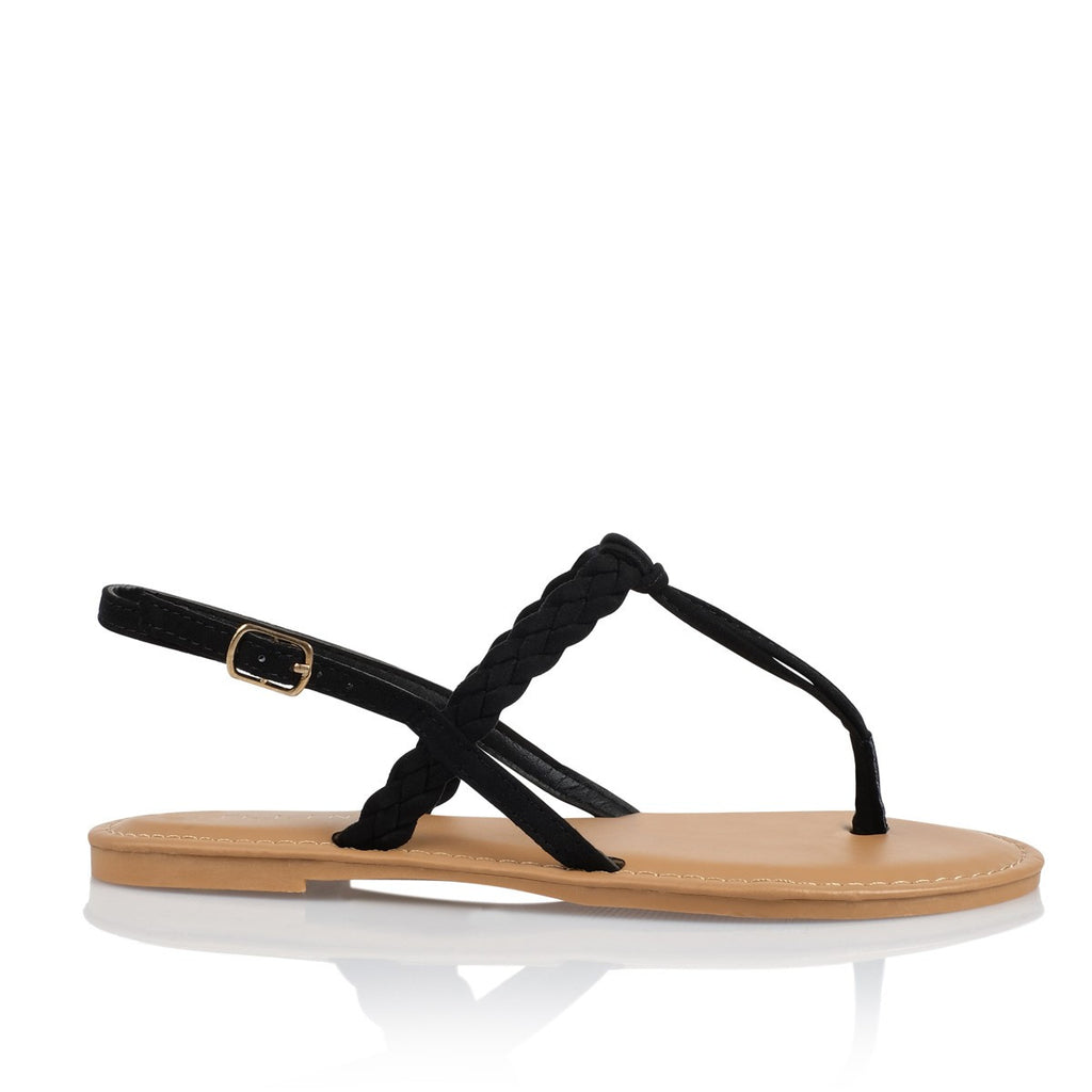 Olena Black Suede Sandals by Billini