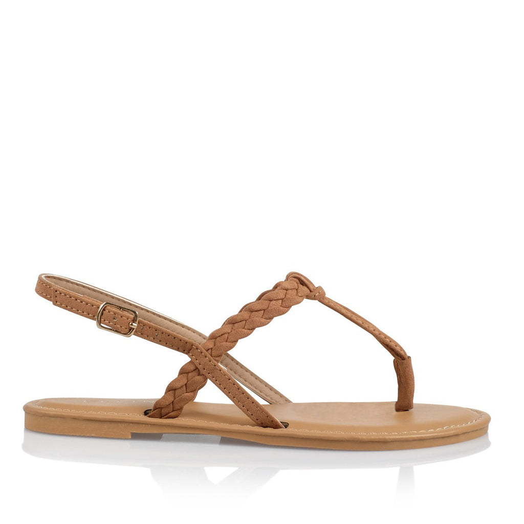 Olena Tan Suede Sandals by Billini