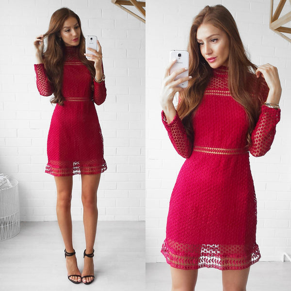 Wanderlust Dress - Maroon