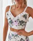 Willow Two Piece Dress Set - Purple Floral