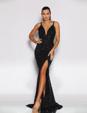 Made To Order: Yazmin Sequin Gown by Jadore