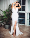 Yazmin Sequin Gown by Jadore - Ivory