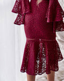 Briana Dress - Maroon
