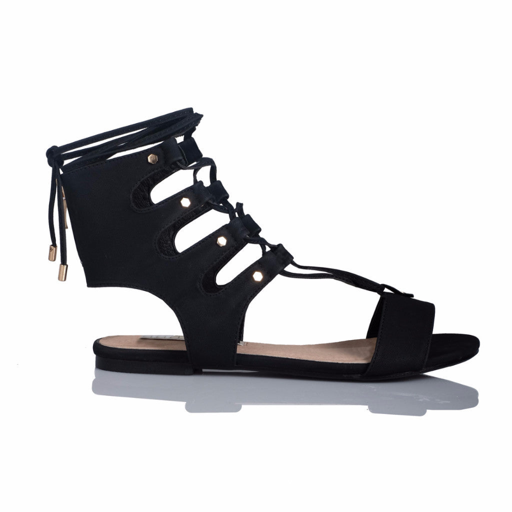 Dash Black Nubuck Sandals by Billini