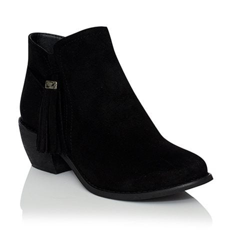 Hudson Black Suede Ankle Boot by Billini