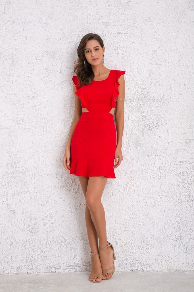 I Feel Your Love Dress - Red