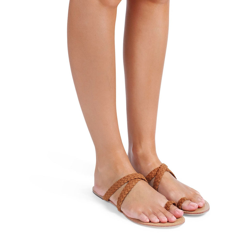 Macario Tan Suede Sandals by Billini