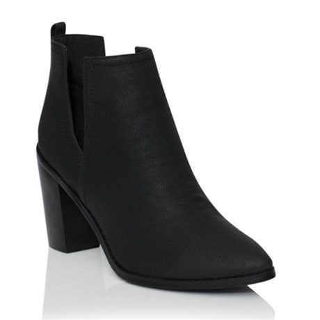 Mavis Black Nubuck Ankle Boots by Billini