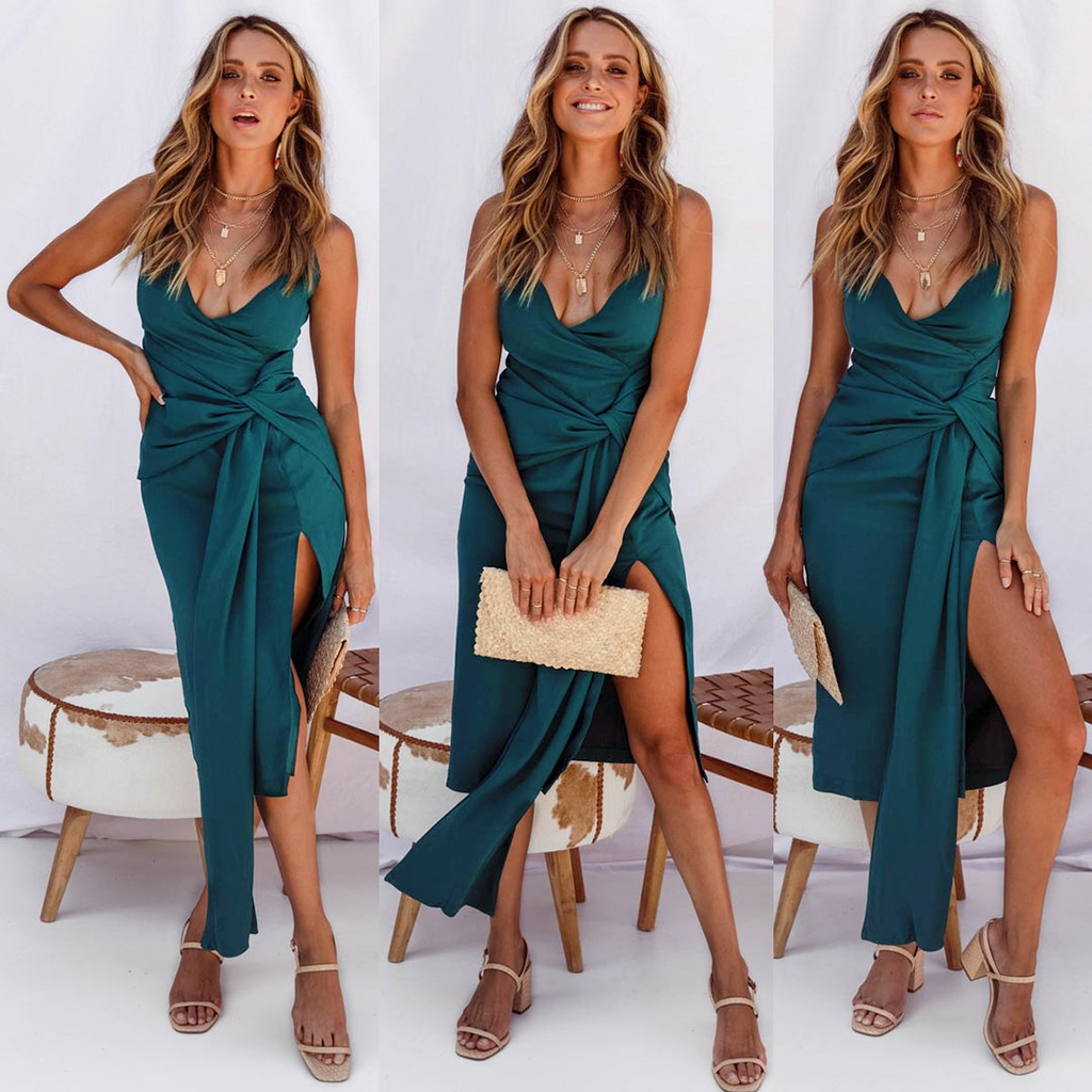 Natasha Midi Dress - Teal