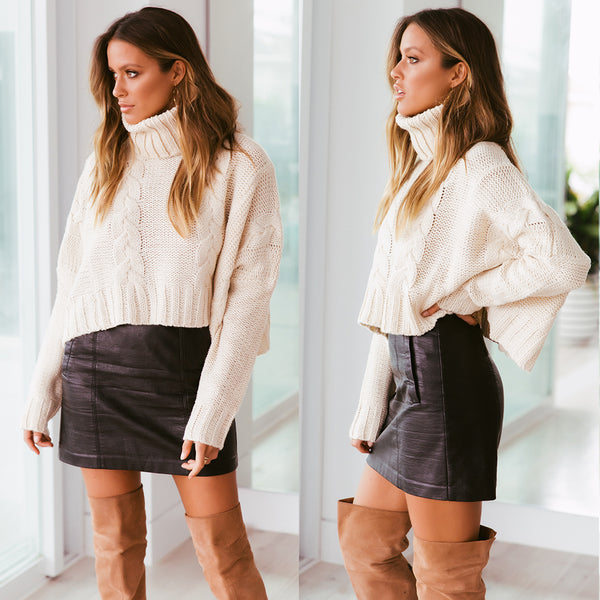 Rubi Cropped Knit - Sand
