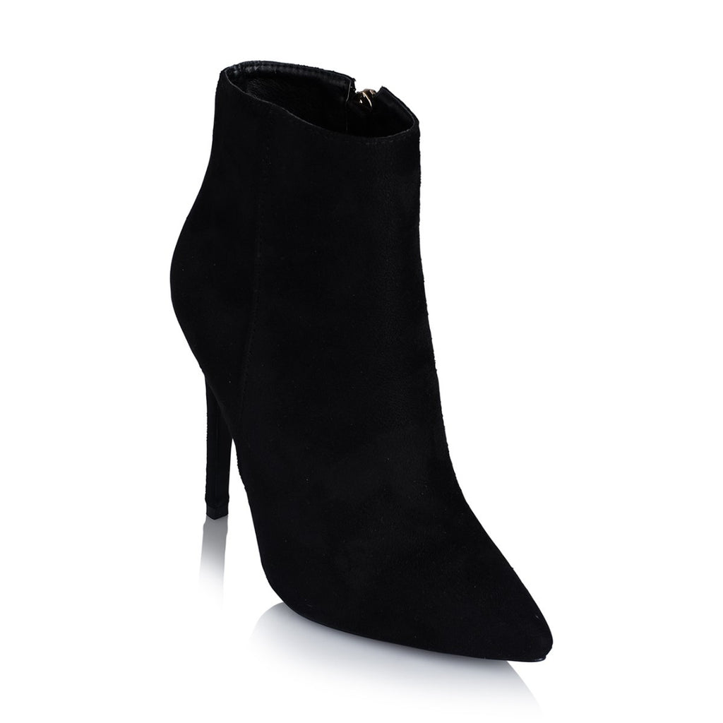 Sarina Black Suede Ankle Boots by Billini