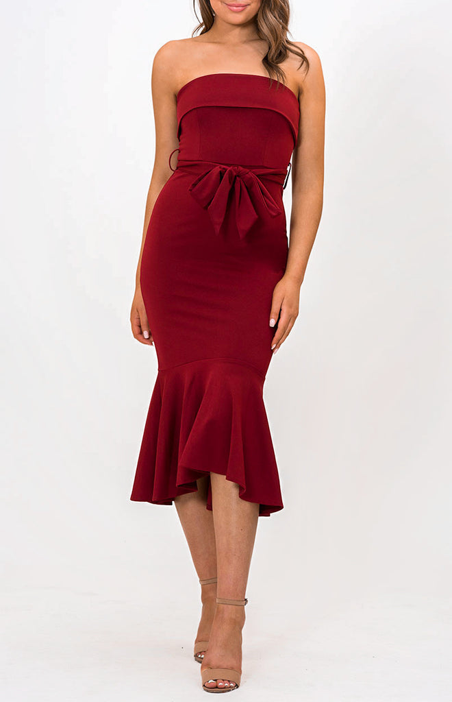 Sophie Midi Dress - Red