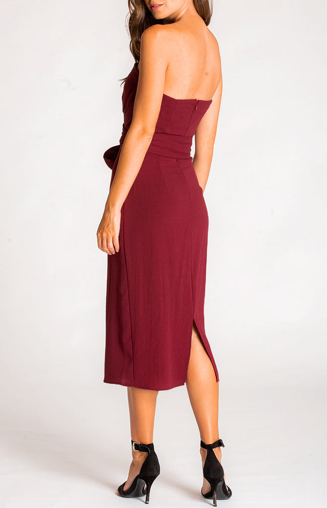 Juniper Midi Dress - Maroon