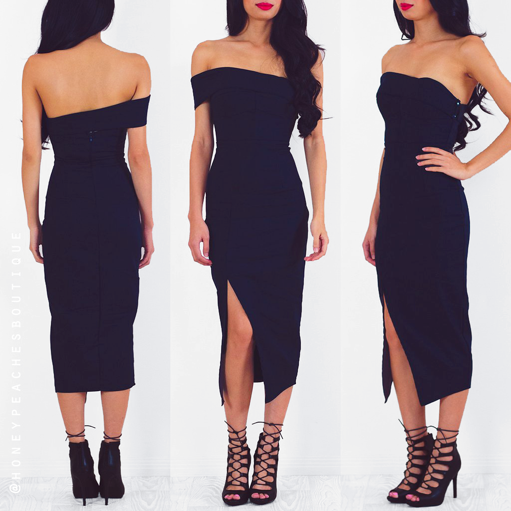 Secret Haven Multi Way Midi Dress - Navy
