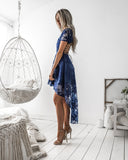 Pre-Order: Shay High Low Dress - Navy