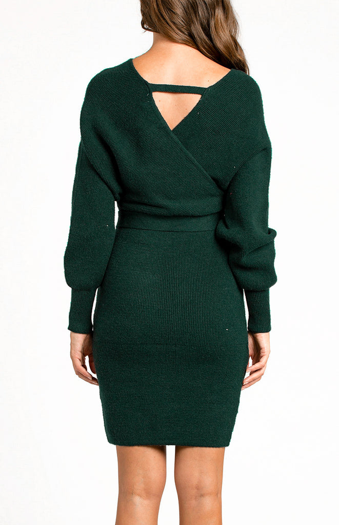 Callie Knit Dress - Emerald Green