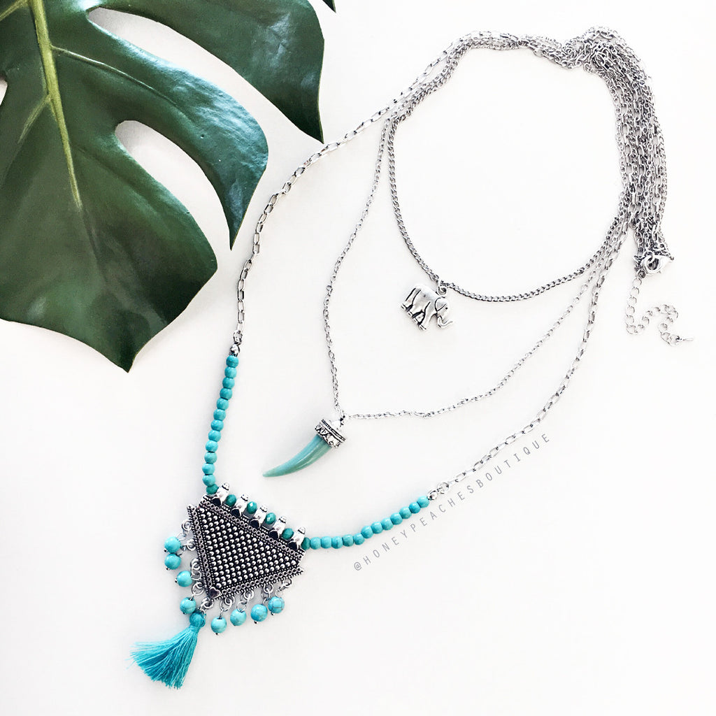 Stella Layered Necklace - Turquoise