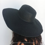 Ella Beach Hat - Black