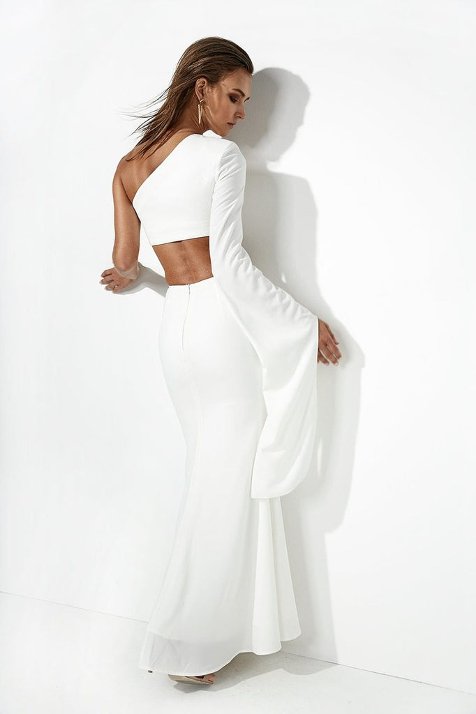 Sultry Two Piece Dress Set - White