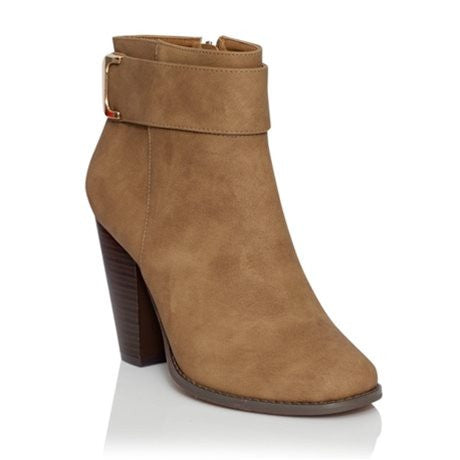 Venice Taupe Nubuck Ankle Boot by Billini