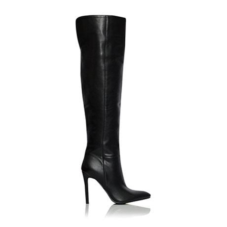 Venus Black Over The Knee Heel Boot by Billini